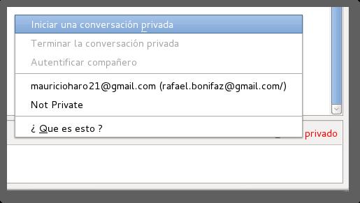 inicira conversacion privada