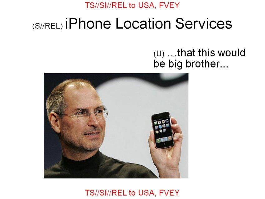 Para la NSA, Steve Jobs era el Gran Hermano