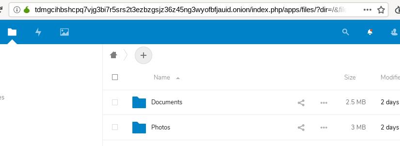'Nube' propia con Nextcloud y Tor